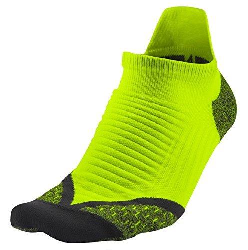 NIKE Men's Ankle Socks (SX4845-710_Volt/Anthracite_4-5.5)