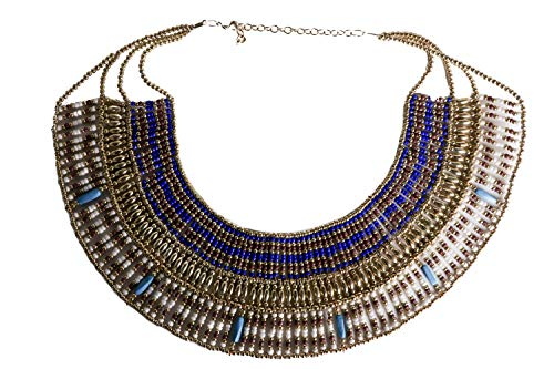 Arsimus Cleopatra Necklace Collar Choker Ancient Egyptian Costume Belly Dance