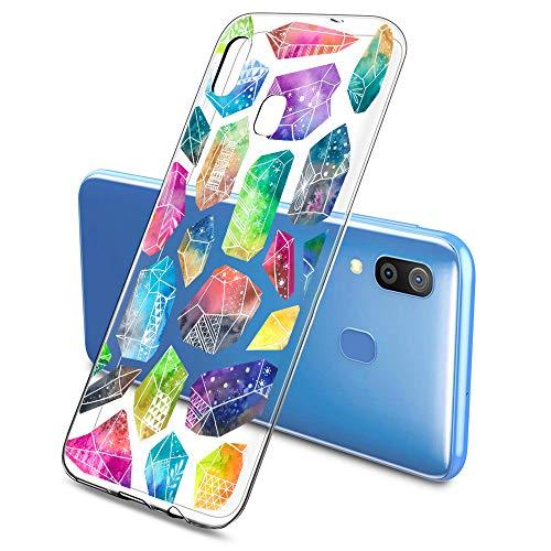 Oihxse Funda Dibujos Diamantes Brillantes Compatible Samsung Galaxy J7 Prime 2017 Transparente...