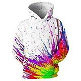 HGFHGD Sudaderas con Capucha Coloridas en 3D para Hombres y Mujeres, con Manchas de Pintura, Sudaderas con Capucha de Manga Larga, Jerseys, Jerseys de Calle, Jerseys Deportivos Casuales