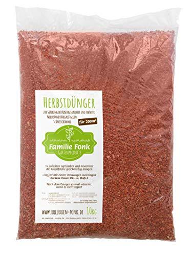 Herbst-Rasendünger 10kg für 200m² | vom Rollrasen-Produzenten Fonk | Langzeitwirkung für Wurzel- & Rasengesundheit | Kalium & Schwefel