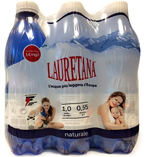 Lauretana Bottiglie Acqua Lauretana Naturale - 0.5L (confezione da 6)