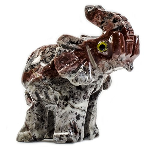 Fantasia Creations: 1 pc Elephant Soapstone Animal Figurine - Hand Carved Stone Animals for Party Favors, Collecting, Wire Wrapping, Gifts and More!