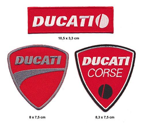 Racing Classics Ducati Aufnäher Aufbügler Patch 3 Stück Motorrad Biker Italy TURBOVERSAND