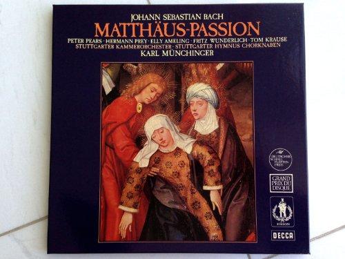 Bach: Matthäus-Passion (Gesamtaufnahme: Ludwigsburger Schloss - 1964) [Vinyl Schallplatte] [4 LP Box-Set]