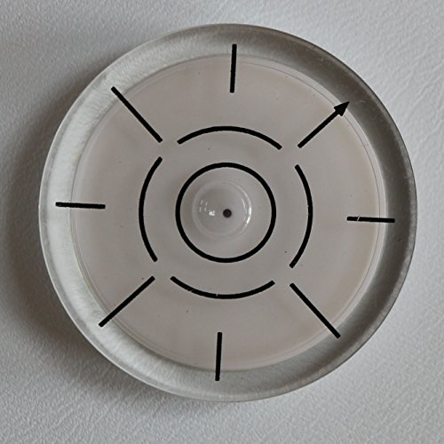 Dosenlibelle - Mediumgroße kreisrunde Wasserwaage mit Luftblase – Werkzeug für Hobby, Uhr, Plattenspieler, Kamera und Wohnmobil