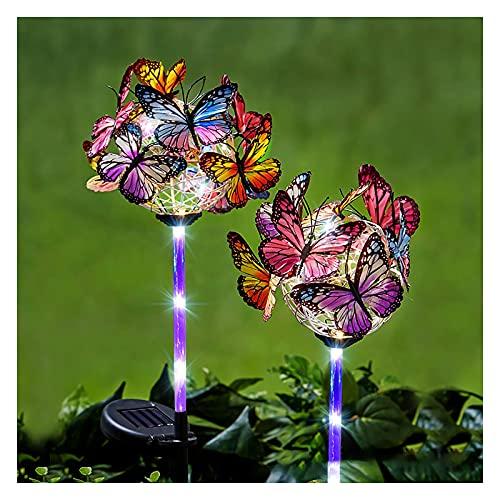 WOERD Luces Solares Jardín LED, Lámpara Solares para Exteriores, Lámpara de Camino de Paisaje, Impermeable IP65 de Acero Inoxidable para Pasillo Césped Patio 2 Piezas