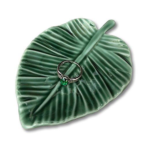 Leaf Trinket Dish Decorative Ring Dish Holder for Jewelry Engagament Wedding Birthday Gifts