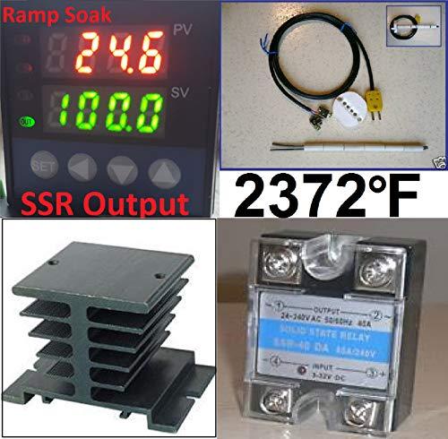 Ramp Soak Temperature Controller Kiln SSR Thermocouple Programmable Control 60 Segment