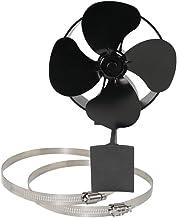 MOMIN Ventilador de Chimenea La Estufa de Calor accionada Ventilador, Eco Friendly silencioso Estufa Ventilador for la Madera quemadores de Registro Burner (Color : Negro, tamaño : 22x20.3x16cm)