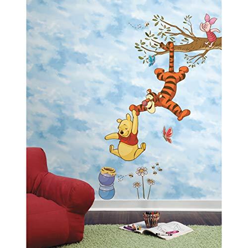 Sticker Géant Repositionnable Disney Winnie l'ourson sur une Branche