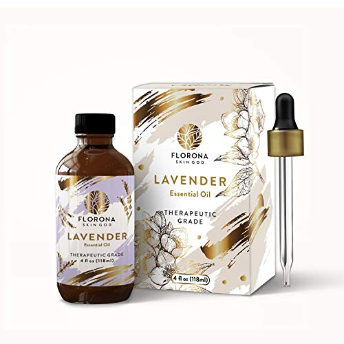 Lavender Essential Oil 4Oz- 100% Pure Therapeutic Grade for Aromatherapy Diffuser and for Stress Relief, Relaxation & Sleep - Large Bottle with Gift Box (Lavender, 4 Ounce)