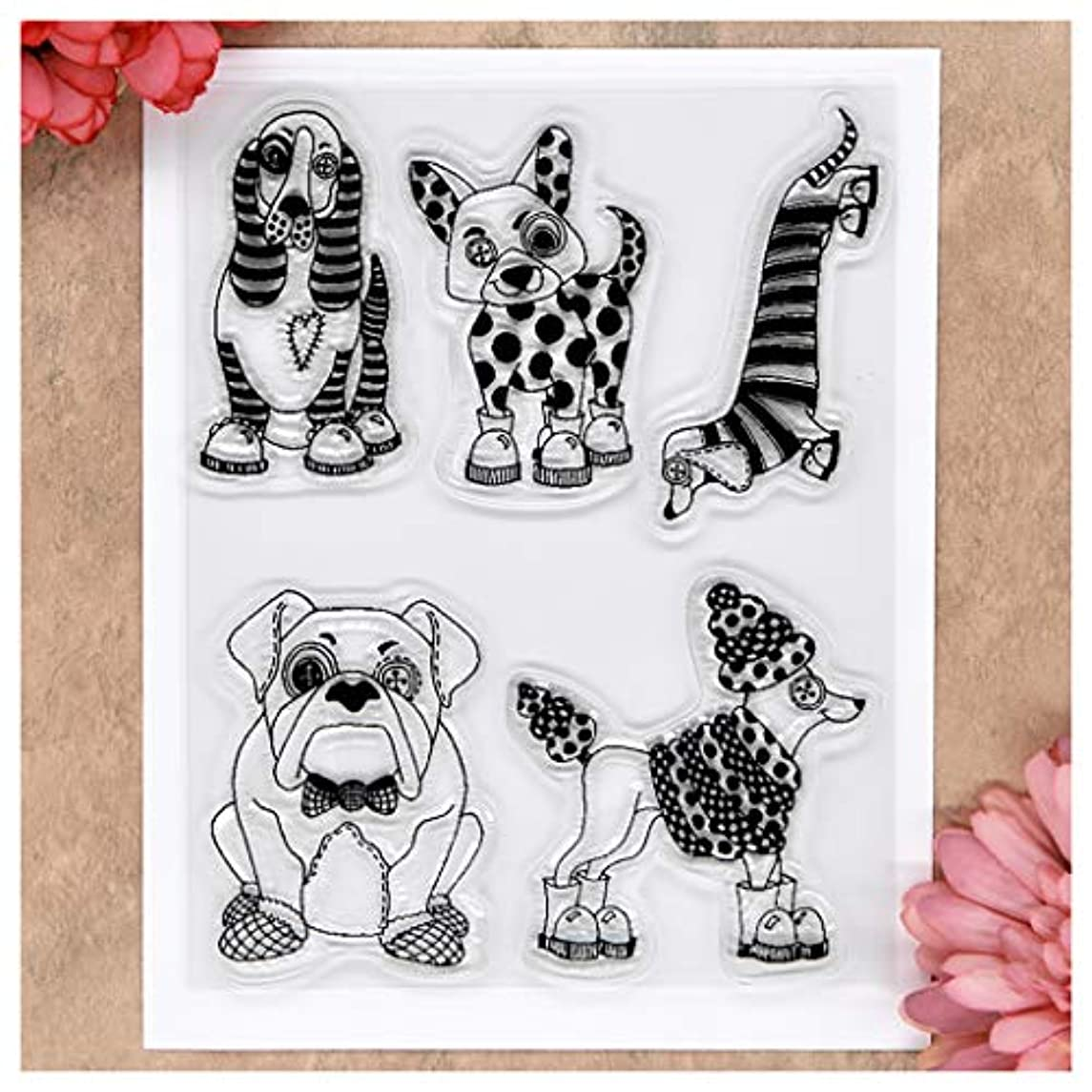 Kwan Crafts Dog Clear Stamps for Card Making Decoration and DIY Scrapbooking