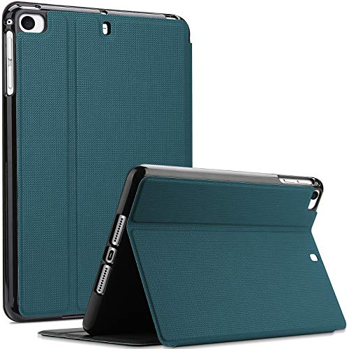 ProCase Funda Delgada para iPad Mini 5 2019 / Mini 4, Mini 1 2 3, Carcasa Protectora con Cubierta Inteligente/Ángulos Ajustables de Visión para iPad Mini 5/4 / 3/2 / 1 - Verde Azulado