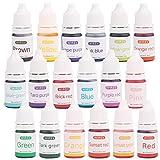 Wtrcsv 18 Farben Epoxidharz Farbe flüssig - seifenfarbe Set - Resin Farbe, Epoxy Farbe,...