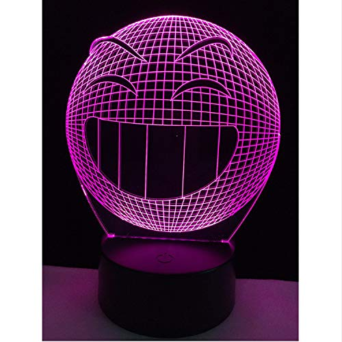 Emoji Lächeln 3D Tischlampe Nachtlicht Schalter Rgb Controller Home Bar Cafe Geschenk Dekoration
