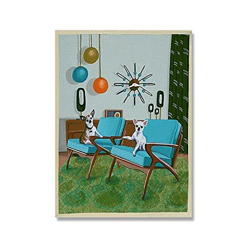 Eames Poster Chihuahuas Danish Chairs Poster Retro Original GemäLde Kunstdruck Mid Century Modern Leinwand Wand Bilder Wohnkultur Bild 50x70cm Kein Rahmen