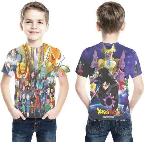 Camiseta Super Dragon Ball Z Ref 07 Estampa Total Infantil