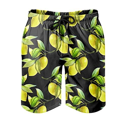Ktewqmp Zomerzwembroek citroen mannen zwembroek zwembroek heren met zakken veilig