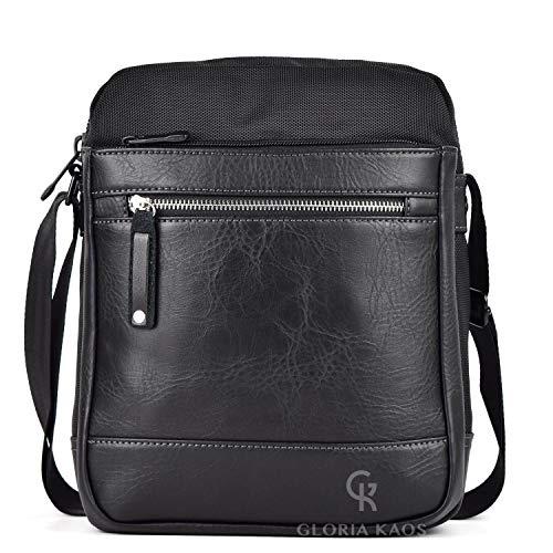Messenger-Tasche für Herren mit verstellbarem Schultergurt für Tablet iPad bis zu 10 Zoll (25,4 cm), Alltag, Reisen, Arbeit, Business S3341