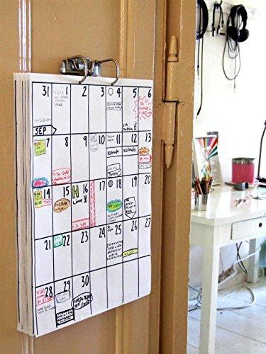 DIN A3 Wandkalender (18 Monate Laufzeit) z.B. Sep 2020 - Feb 2022