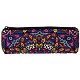 Tribal Indian Vintage Wthnic colorido Mandala patrón lápiz bolsa bolsa bolsa lindo pluma cremallera bolsa para papelería viaje escuela estudiantes suministros