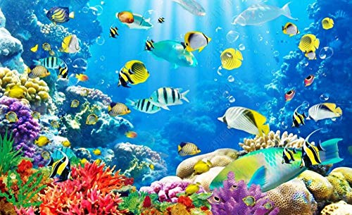 Wallpaper 3D Wall Murals Underwater World Coral Tropical Fish Wallpaper Wall Mural Living Room Bedroom Tv Background Wall Mural Decoration Art 300cmx210cm