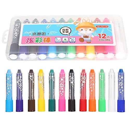 Oliepastels voor kinderen 24 kleuren Kleuters kleurpotloden, voor kinderen Gevoelige huid Zijdeachtig badkrijt voor kinderen