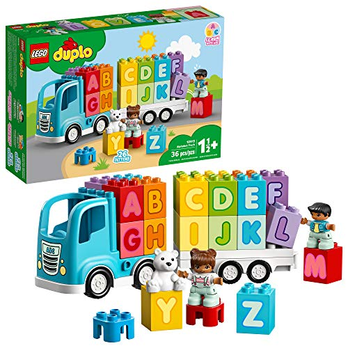 LEGO DUPLO My First Alphabet Truck 10915 ABC Letters Learning Toy for Toddlers, Fun Kids