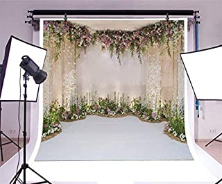 Baocicco 10x10ft Wedding Backdrop Beautiful Curtains Romantic Floral Decorations Flower Clusters Photography Background Wedding Ceremony Bridal Shower Birthday Children Adults Portrait Studio