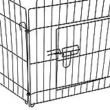PawHut D06-025 Welpenauslauf / zaun Laufstall Freilaufgehege Hunde Achteckig, schwarz - 9