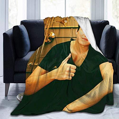 VJSDIUD 60 'x50' dimash kudaibergen Manta de Lana de Franela Súper Suave, cálida, acogedora, Ligera, fácil de cuidar, para Todas Las Estaciones, Manta de Cama Premium