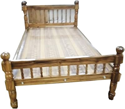 DK Wood DK001 Wood Queen Size Multicolour Modern Cot (78 x 60 inches)