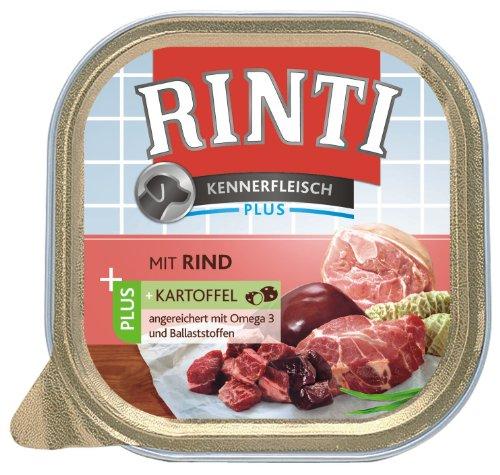 Rinti Kennerfleisch Hundefutter Rind & Kartoffel 300 g, 9er Pack (9 x 300 g)