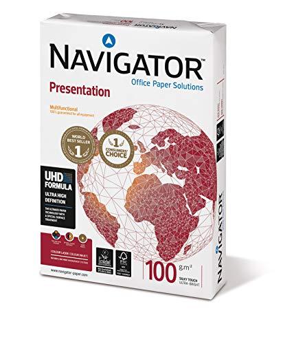 Navigator Presentation, Papel Multifunción, A4, 100 g/m2, 500 Hojas, Blanco