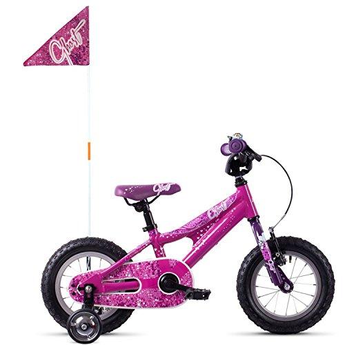 Ghost Powerkid AL 12R Kinder Fahrrad 2018 (One Size, Dark Fuchsia Pink/Violet/Star White)