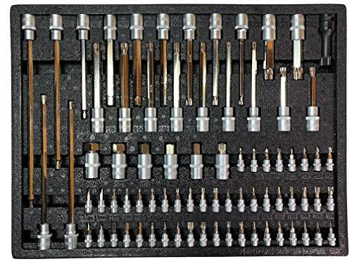 Kraftwelle Verkstadsvagn verktygsvagn bit insättning modul hylsnyckel verktygsset torx insexkant multitand femårsdagen bilspecialverktyg