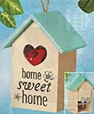 Key Keepers Decorative Hand Painted Home Sweet Home Hide A Key Birdhouse, BEIGE, 8""