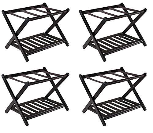 Lowest Prices! Winsome 92436 Luggage Rack with Shelf (Pack of 4)
