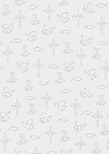 Ursus 76504605 - Transparentpapier Glitter, 115 g/qm, 5 Blatt, Din A4, white line