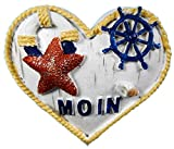 Magnet Maritim Herz Seestern 6,5 x 5,5 cm Rettungsring Beach Urlaub Figur Deko GCG D58
