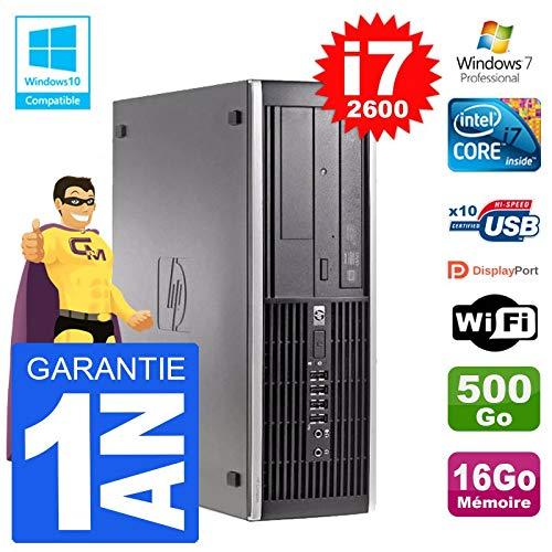 HP PC 6200SFF Intel i7–2600RAM 16GB disco 500GB, grabadora DVD Wifi W7