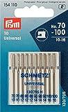 Prym Agujas para máquina de Coser estándar, 154110, 70-100, 130/705, 10 Agujas para máquina de...