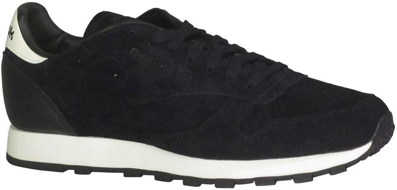 Reebok Classic läder skor Män's gående gående gående svart  det senaste varumärket outlet online