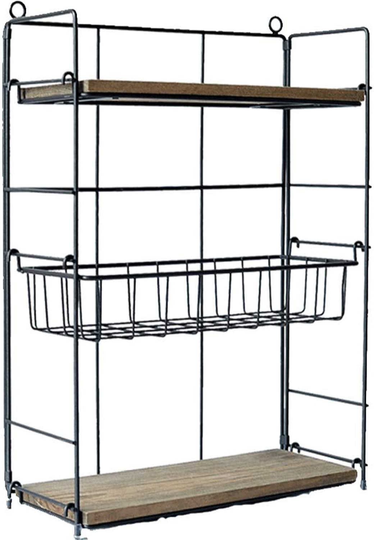 LPZ Retro Iron Art Shelf - Combined Multi-Layer Adjustable Three-Tier Shelf Desktop Sundries Storage Display Stand LPZV