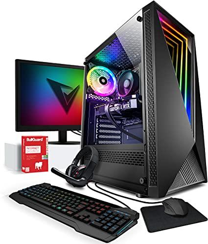 Vibox IV-16 PC Gamer - Écran Pack - 6-Core Ryzen Processeur - Nvidia RTX 3060 12Go Carte Graphique - 16Go RAM - 1To NVMe M.2 SSD - Windows 10 - WiFi
