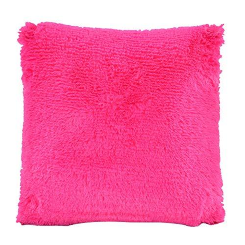kexinda Solid Color Dekokissen Fall weiches Plüsch-Quadrat Kissenbezug Start Schlafzimmer Sofa Dekoration
