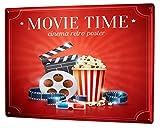 LEotiE SINCE 2004 Blechschild Vintage Retro Metallschild Wandschild Blech Poster Star Popcorn Kino