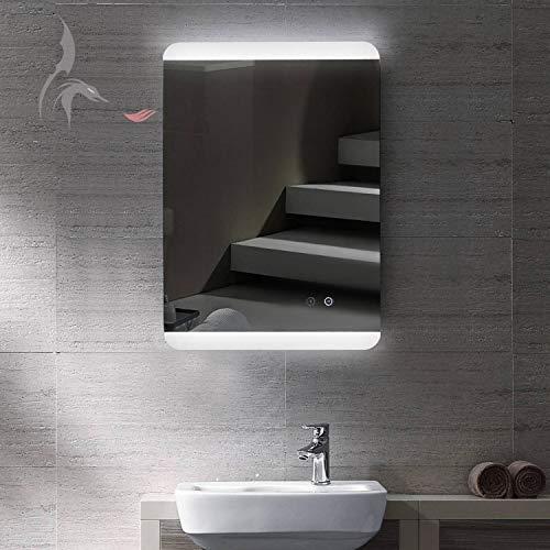 HOKO® LED Bad Spiegel mit ANTIBESCHLAG SPIEGELHEIZUNG, Füssen 60x80cm, Montage Hoch- und Querformat möglich, Energieklasse A+ (WEEE-Reg. Nr.: DE 40647673)