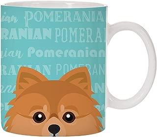 Adorable Dog Breed Specific 11oz Ceramic Coffee Mug (Pomeranian)